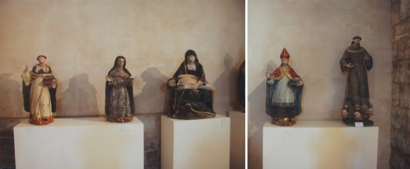 Images of saints in the Church of St. Pedro, Fromista