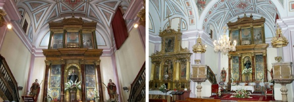 Interior of the San Juan church Sahagún