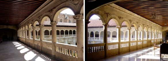 Cloister of 2nd floor of the parador San Marcos