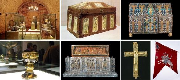 Treasure room, Ark of Ivories, Ark of Enamel, Chalice of Doña Urraca, Chest of San Isidoro, Crucifix of Don Fernando and Dona Sancha and Banner of Baeza.