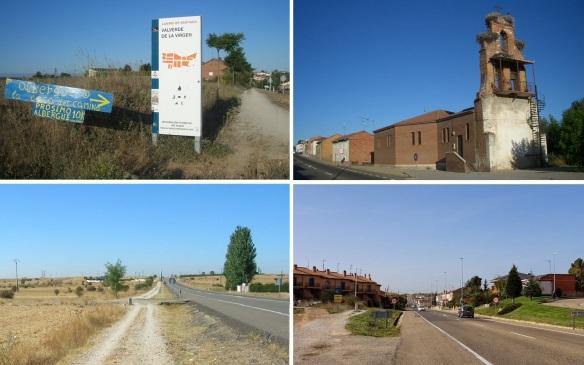 Views from the town of La Virgen del Camino to San Miguel del Camino.