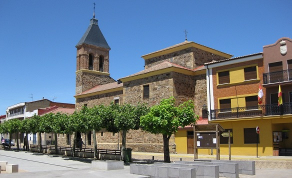 Iglesia San Juan Bautista y Casa Consistorial (St. John Baptist Church and Town Hall) on the street, Calle Sierra Pambley