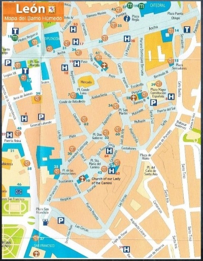 Map of Barrio Humedo León, Spain