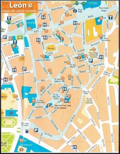 Map of Barrio Humedo León, Spain