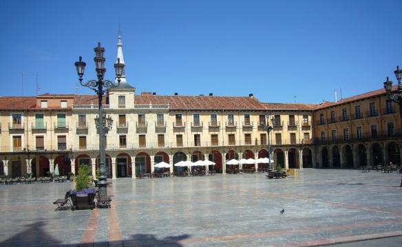 The Plaza Mayor of  León
