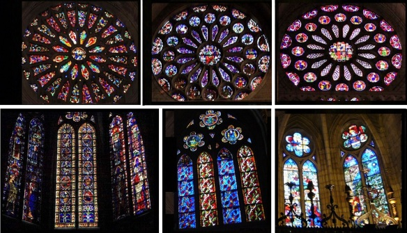 Beautiful stained glasses of the Cathedral