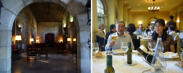 The restaurant of the Parador San Marcos, had dinner with my wife.