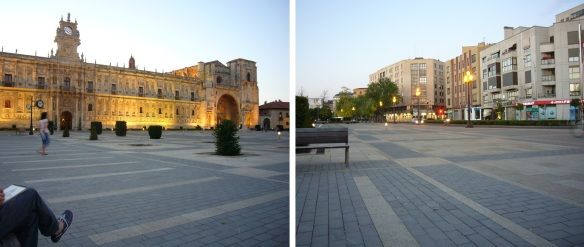 The San Marcos Square in the dusk of the evening