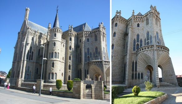 The Episcopal Palace of Astorga and the Entrace.