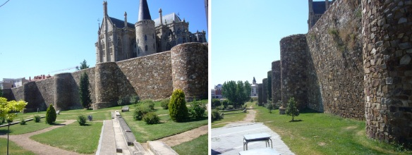 Beautiful walls of Astorga were built between the 13th and 15th centuries.