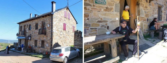 Albergue Monte Irago; Taking a rest at the Albergue for a while.