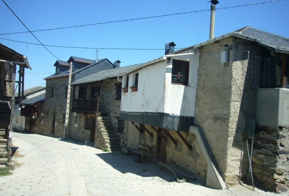 Houses on the main street of El Acebo