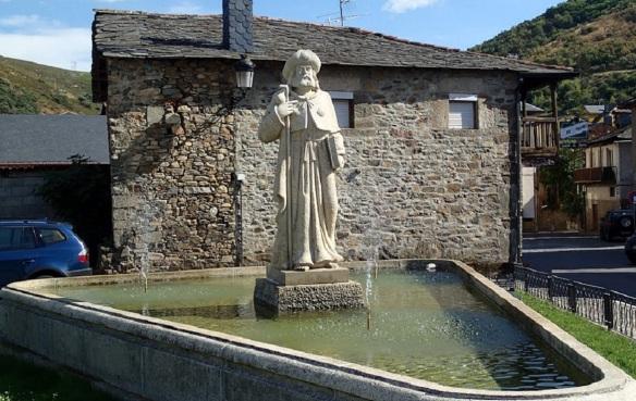 Pilgrim Statue of Molinaseca on the Camino de Santiago