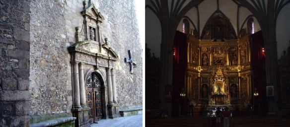 Entrance and Altarpiece of the Basílica de la Encina