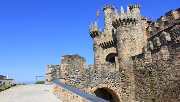 The Gate of Templar Castle in Ponferrada