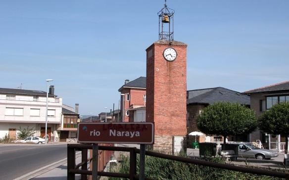 Clock Tower of Camponaraya; Going into the Camponaraya Town over the Nagara River.