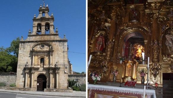 Facade and Altarpiece of Iglesia de Las Angustias Cacabelos.