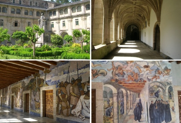 Courtyard, cloister and wall paintings of the monastery.