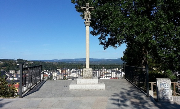 Sarria Cross in the park