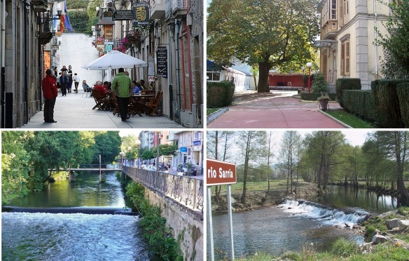 Old town of Sarria and Sarria River
