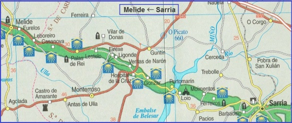 Camino Route, from Sarria to Melide