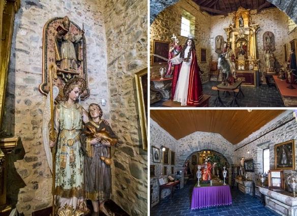 Interior of the Ermita de San Roque Cacabelos.