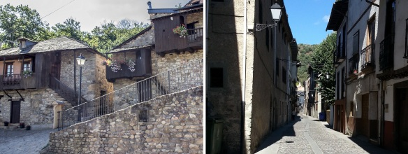Walking around the quiet streets of Villafranca del Bierzo.