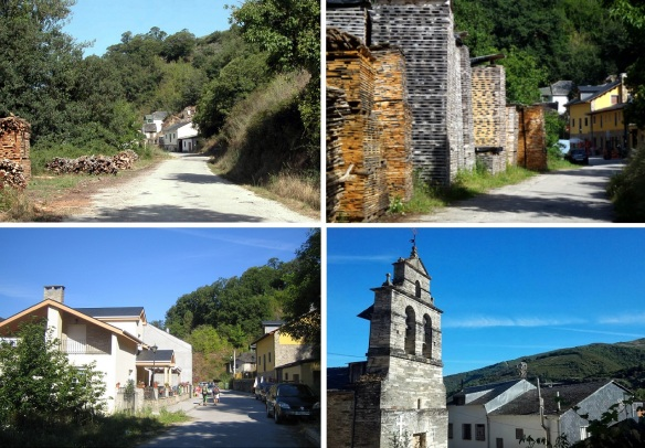 Landscapes of Trabadelo Village, Parish church of San Nicolás.