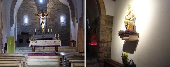Interior of Iglesia de Santa María, O Cebreiro.