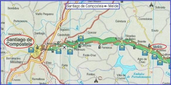 From Melide to Santiago de Compostela