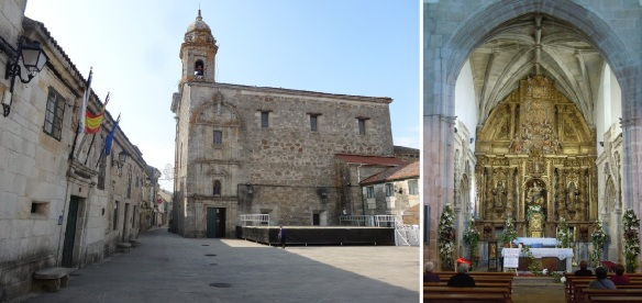 Sancti Spiritus Church built in 1498 is the former convent, located on Praza Convento Melide.