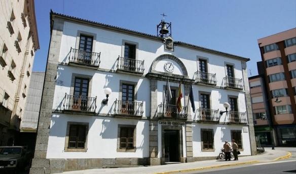 Arzúa City Hall on the Santiago Street
