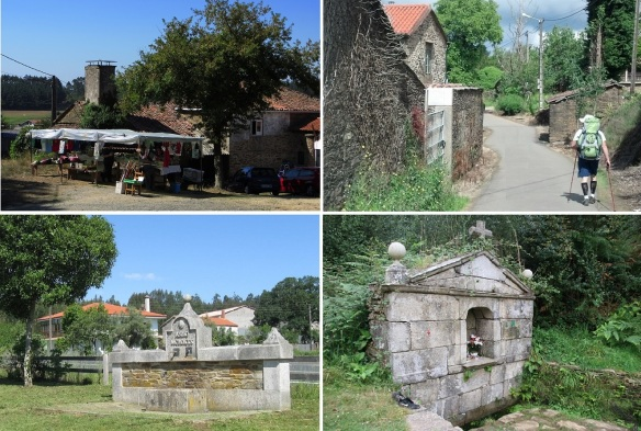 From Arzúa to the very small village, Santa Irene; General store of Outeiro. Village of Salceda. Fountain in Empalme the year 1999. Fountain in Santa Irene.