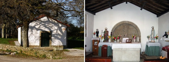There is a small chapel near the Monument; Capela de San Marcos also called Hermitage of Monte do Gozo.