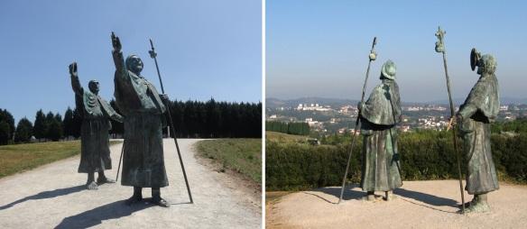 Pilgrim Monument on the top of Monte do Gozo.