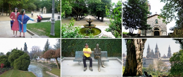 The Alameda Park); Statues of the two very peculiar old sisters of Maruxa (1898 - 1980 ) and Coralia Fandiño Ricart (1914 – 1983).