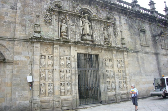 Door of Forgiveness in the Cathedral of Santiago de Compostela.
