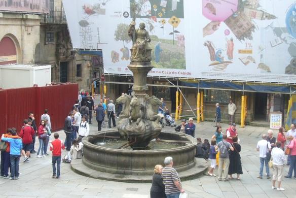 Fountain of Horses on Plaza de Praterías, Santiago