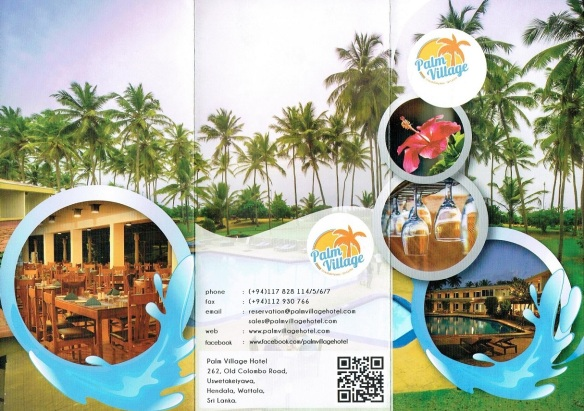Brochures of Palm Village Hotel