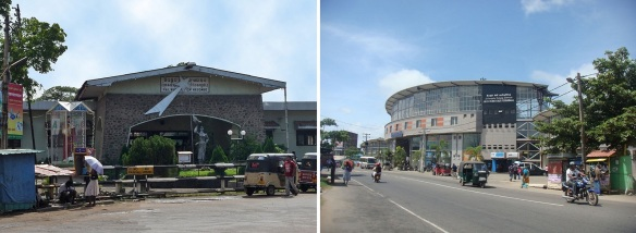 Arrived at Negombo City; Railway station and bus terminal of Negombo.