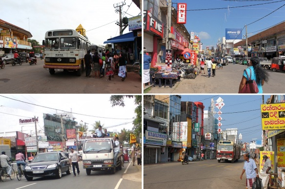 Negombo city center and main street.I don't know the name of the place.Because Sri Lanka does not have the map for sightseeing.