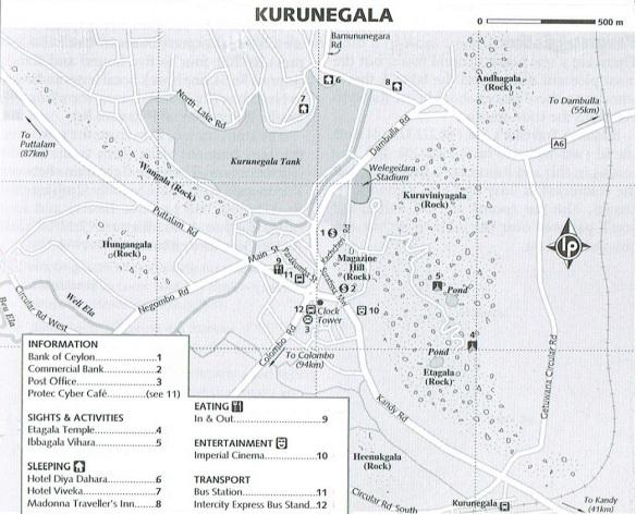 Kurunegala Town Map
