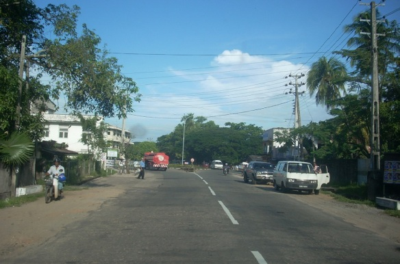 Going into the Kurunegala town