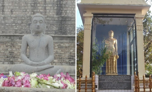 Old and new Buddha statues