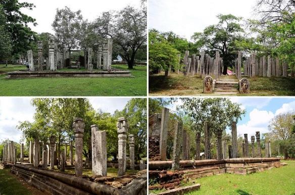 Ancient sacred ruins around Thuparamaya Dagoba.