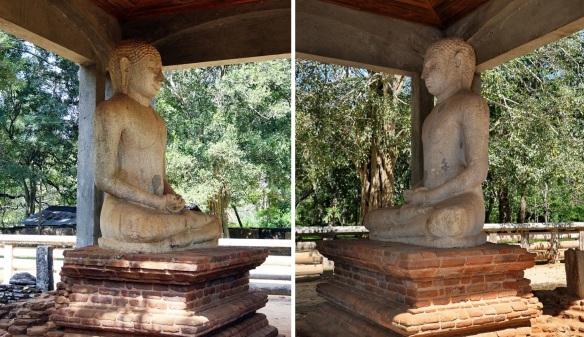 Both sides of the Samadhi Buddha Statue
