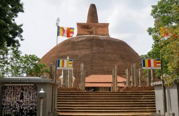 The Abayagiri Dagoba in Anuradhapura