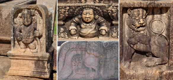 stone sculptures of Mahasena Palace