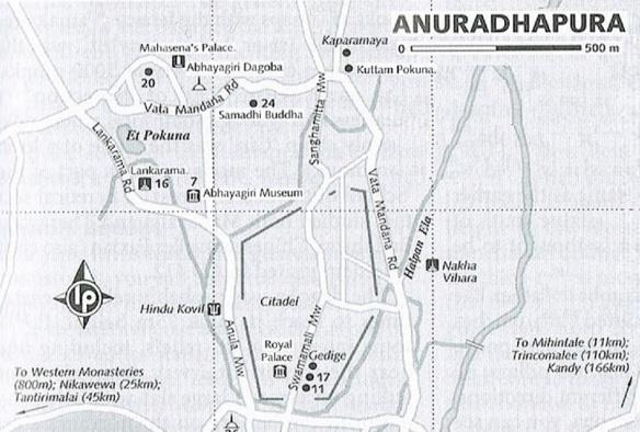 Abhayagiri Area Map