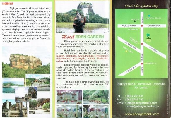 Brochure of the Eden Garden Hotel